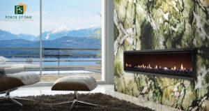 Alexandrita Quartzite Fireplace Design
