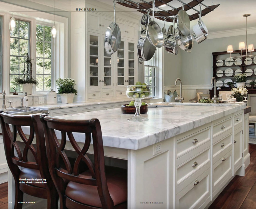 Food & Home Magazine, Marble Kitchen Design Fall 2018