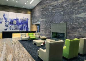 Stone Living Room Design
