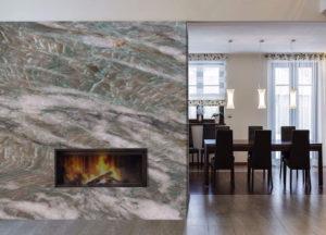 Quartzite Fireplace Design
